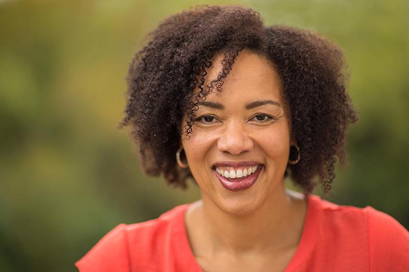 smiling confident black woman